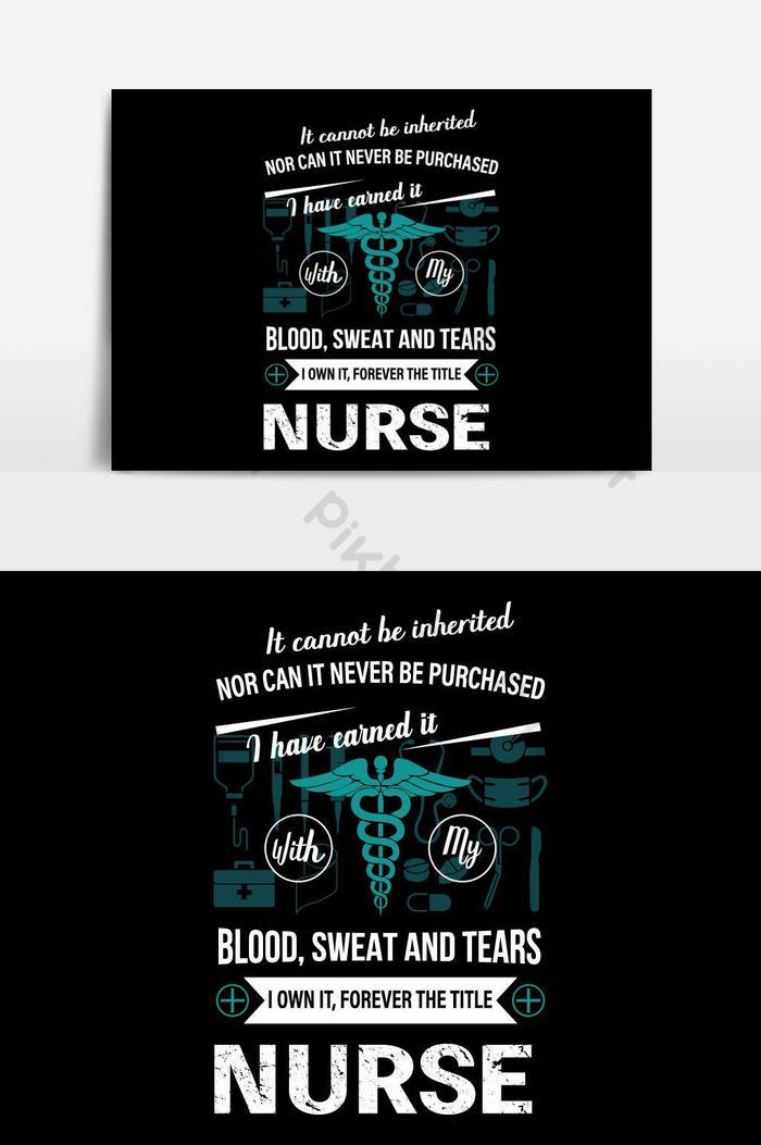 เสื้อยืดพยาบาลออกแบบเวกเตอร์กราฟิกพิมพ์โปสเตอร์หรือเสื้อยืด