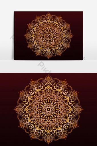 خلفية تصميم ماندالا الزينة الفاخرة مع نمط أرابيسك الطراز العربي الإسلامي صور PNG قالب AI