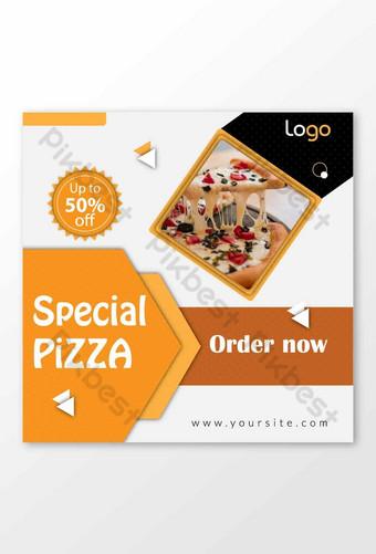 Modèle de conception de bannière de vente spéciale Pizza Instagram Modèle AI