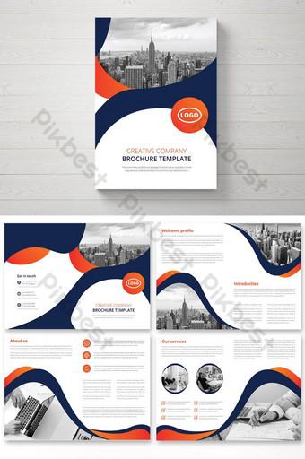 современный бизнес-каталог брошюры или шаблон буклета шаблон AI