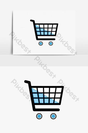 logotipo de comercio electrónico elemento de gráficos vectoriales diseño de icono de logotipo de comercio electrónico icono de logotipo de tienda online Elementos graficos Modelo EPS