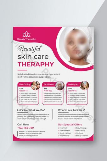 Conception de flyer de soins de la peau beauté spa rose créatif Modèle PSD