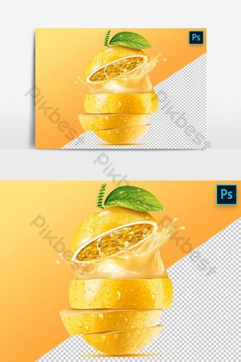 شغف عصير الفاكهة نشر عنصر الرسم ناقلات صور PNG قالب PSD