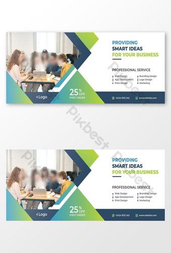 templat posting sampul facebook bisnis media sosial Templat AI