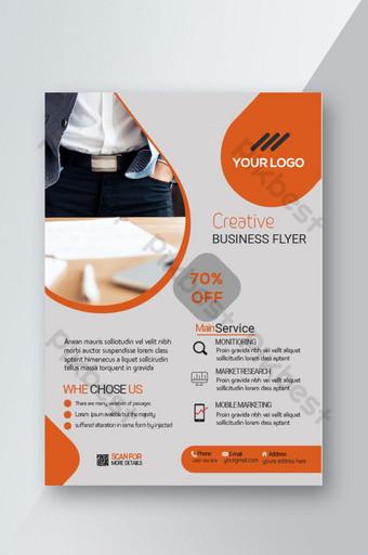 Creative Business Flyer Nouveau design élégant Modèle AI