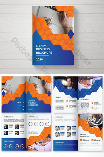 Креативный красочный двойной дизайн брошюры дизайн обложки журнала шаблон шаблон AI
