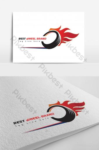 mejor plantilla de diseño de logotipo de marca de rueda Modelo AI
