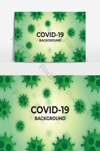綠色covid 19病毒背景模板免費矢量圖 元素 模板 EPS