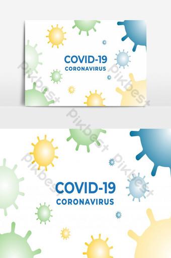 diseño simple de plantilla de virus corona covid 19 Elementos graficos Modelo EPS