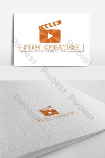 logo de medios creativos de creador de videos Modelo PSD