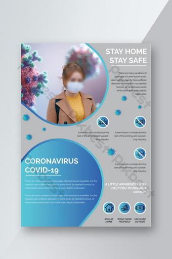 Ulotka informacyjna dotycząca koronawirusa Covid 19 w formacie a4 Szablon AI