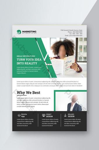 كتيب الأعمال تصميم نشرة إعلانية قالب تخطيط في حجم a4 ناقلات eps قالب EPS