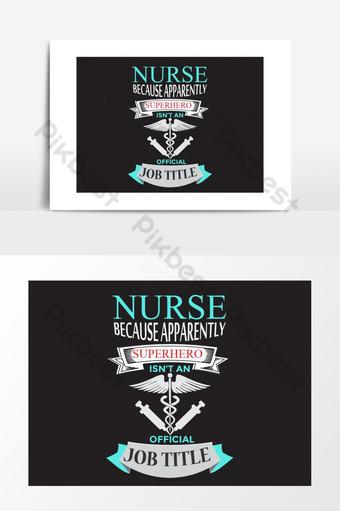 Diseño de camiseta de enfermera, logotipo médico y gráfico vectorial de cinta vectorial con color negro Elementos graficos Modelo AI