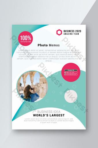 Modèle de Flyer de mémo photo magnifique et coloré Modèle AI