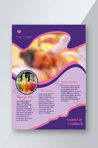 Flyer beauté créative A4 Modèle PSD