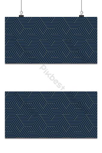 無縫模式與海軍藍色背景上的對稱幾何線 背景 模板 EPS