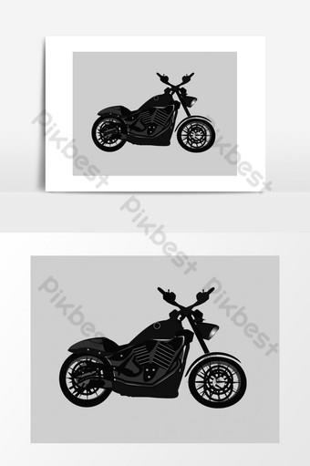 bicicleta vector logo estilo elementos dibujados a mano Elementos graficos Modelo AI