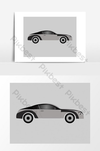 coche vector logo estilo elementos dibujados a mano Elementos graficos Modelo AI