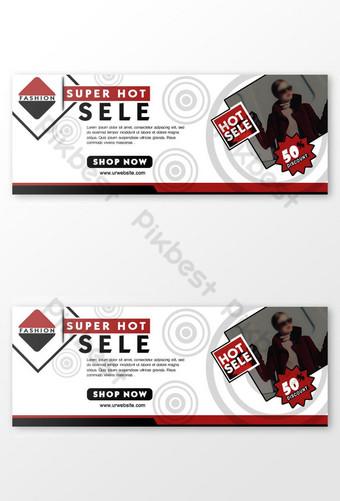 banner de venta de compras diseño de portada de facebook Modelo PSD