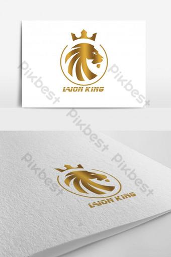 logotipo simple creativo del rey león Modelo PSD