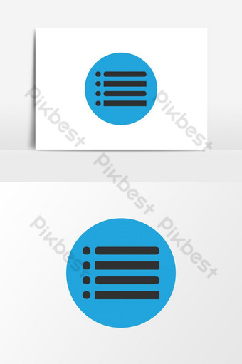 Main Menu flat rounded vector icon,list, line hamburger icon. PNG Images Template AI