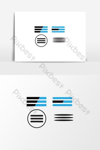Main menu vector icon, list, line hamburger icon PNG Images Template AI