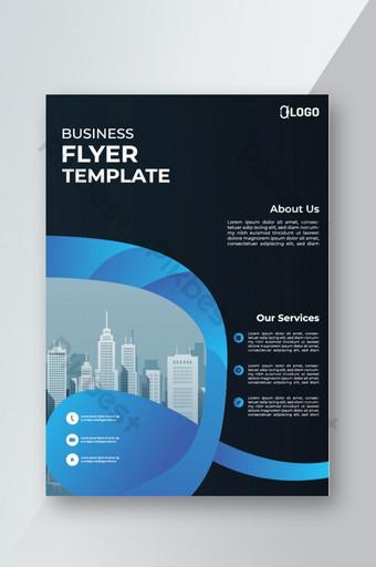 Modèle de mise en page de conception de vecteur de flyer entreprise modèle au format A4 Modèle EPS