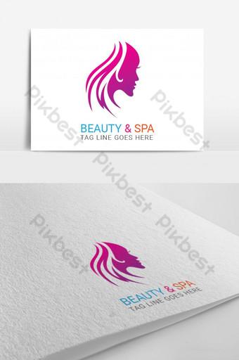Plantilla de diseño premium de logotipo de spa de belleza de clase mundial Modelo AI