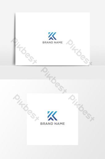 logotipo de icono creativo k Elementos graficos Modelo AI