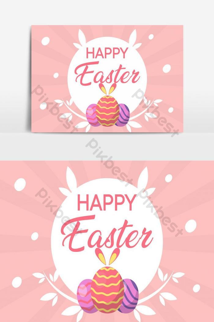 happy easter day vector graphic element 5