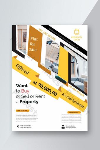 modèle de flyer immobilier maison à vendre Modèle AI