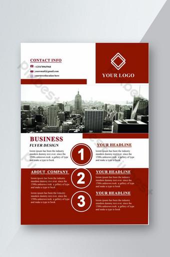 merancang selebaran perusahaan bisnis Templat PSD