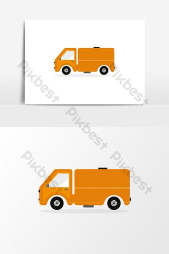 camión de reparto icono elemento grafico camión de reparto logo camioneta pickup camioneta pickup van car art Elementos graficos Modelo EPS