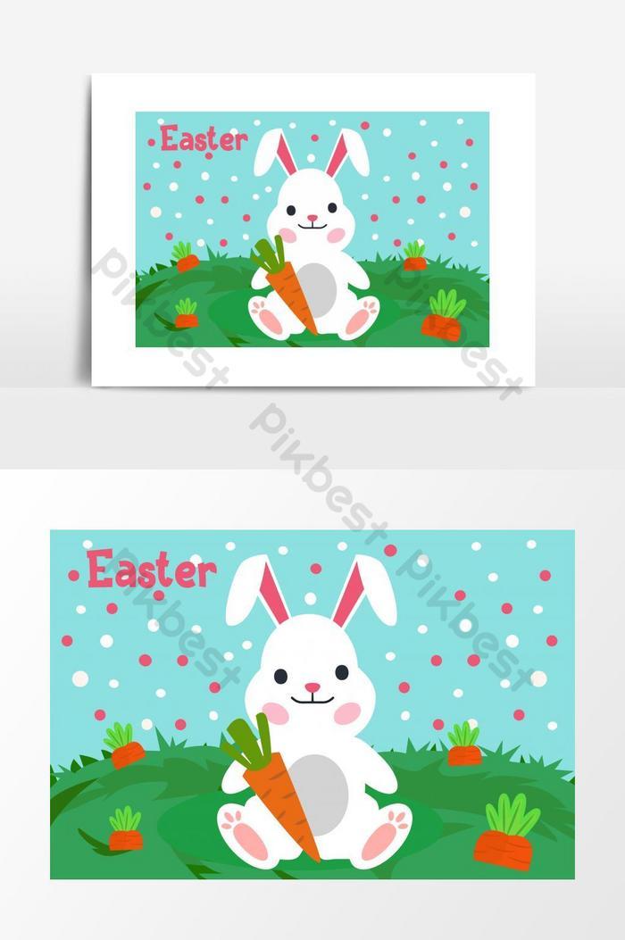 hello easter bunny illustration