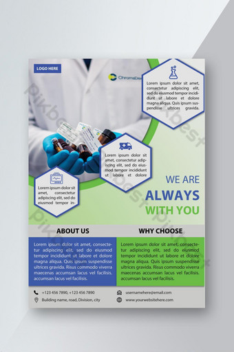Corporate Medical Flyer Health Service Template PSD