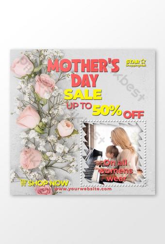 elegante, muito confortável e elegante usar banner de promoção do dia das mães Modelo PSD