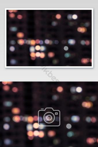 Fondo de luces bokeh abstracto colorido desenfocado tono pastel claro nocturno Fotografía Modelo JPG