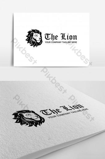elementos gráficos de vector de logotipo de banda de león moderno Modelo AI