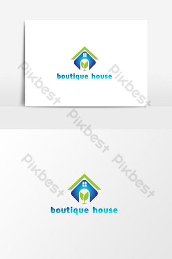 moda y boutique resort y spa vector logo plantilla Elementos graficos Modelo AI