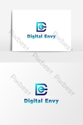 carta tecnología digital vector letra de logo inspiración Elementos graficos Modelo AI