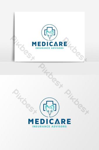 consultorios médicos y dentales periodoncia farmacéutica médica diseño de logotipo vector Elementos graficos Modelo AI