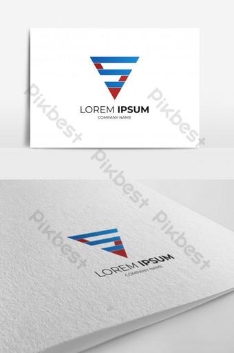 Logotipo de triángulo s con elegante plantilla de vector de color azul y rojo eps 10 Modelo EPS