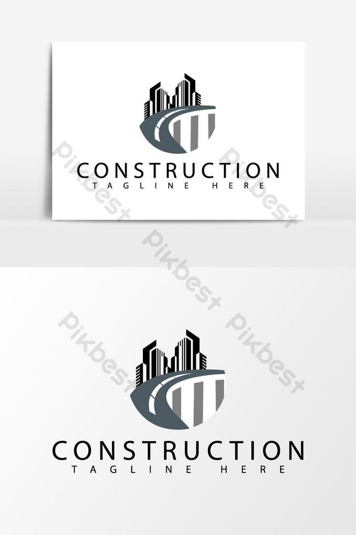 Logo Perusahaan Konstruksi Abstrak Abu Abu Elemen Grafis Templat Ai Unduhan Gratis Pikbest