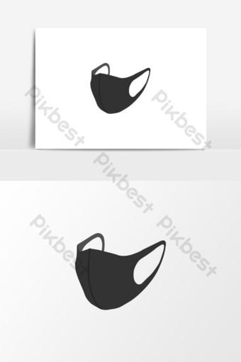Stylowa maska ochronna na koronawirusa COVID 19 Elementy graficzne Szablon AI