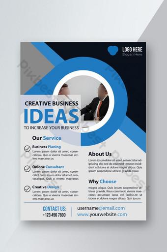 Flyer d'entreprise d'idées créatives Modèle PSD