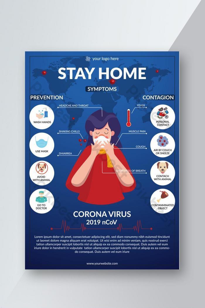 covid 19 nowy koronawirus zapobiegający świadomości informacji ulotka graficzna eps