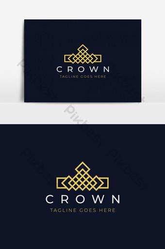 elemento gráfico de vector de diseño de logotipo de corona moderna Elementos graficos Modelo AI
