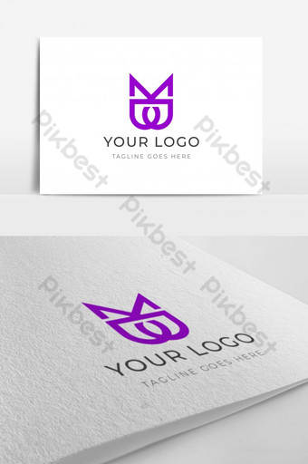 moderno mb plantilla de logotipo inicial forma de corona icono de letras alfabeto logotipo de la marca de moda Modelo AI