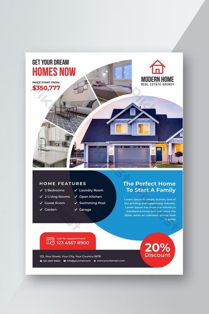 creative real estate flyer template