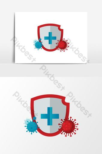 Ochrona przed koronawirusem COVID 19 Elementy graficzne Szablon AI